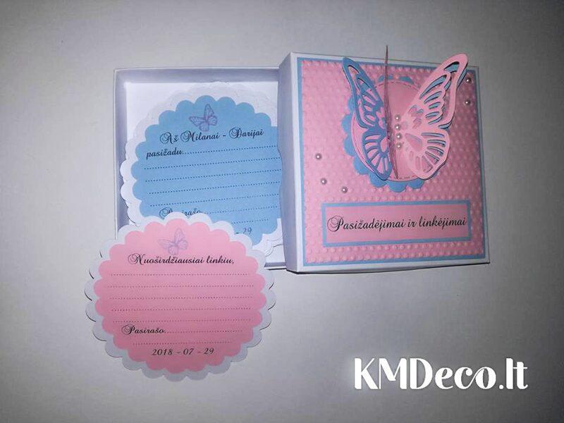 Pasižadėjimų ir/arba linkėjimų ir/arba profesijų kortelės (Melsvai rožinės)