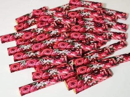 Dovanėlė svečiui - stalo kortelė Ryškios gėlės