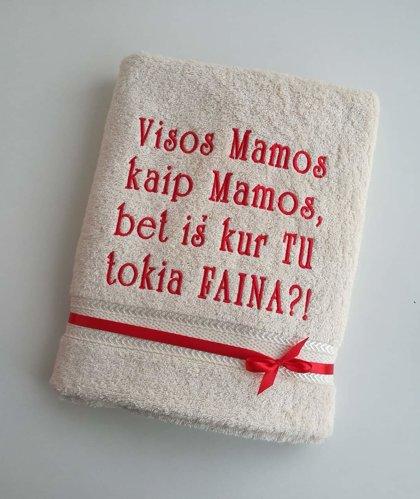 Siuvinėtas rankšluostis - Visos Mamos...