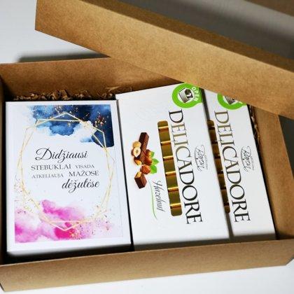 Kvietimas liudininkams (kortelė dėžutėje su saldainiais)
