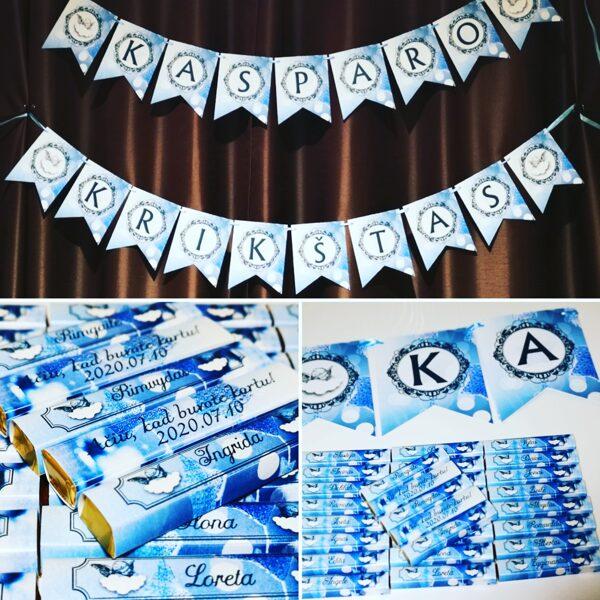Mėlyni angelai - stalo kortelės - padėkos dovanėlės svečiams