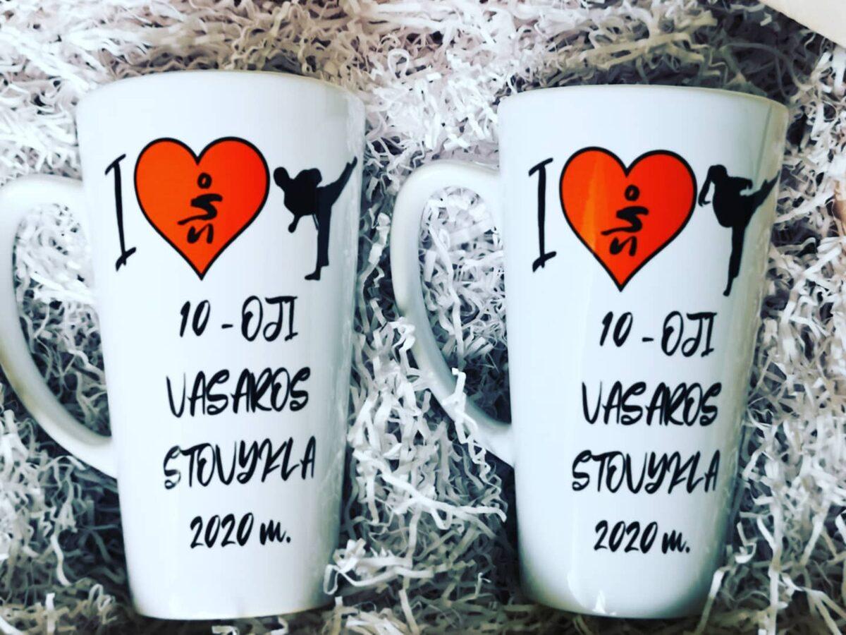 Didelis Latte puodelis TRENERIUI su Jūsų norimu užrašu