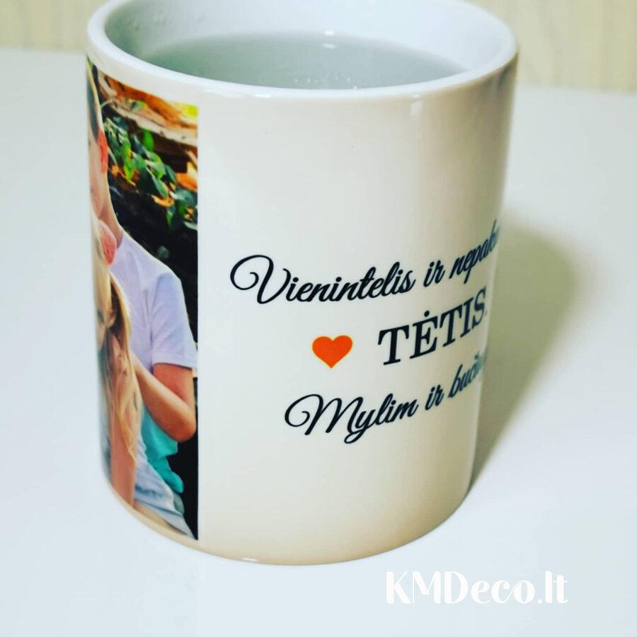 Magiškas puodelis su spauda Tėtis (su Jūsų tekstu)