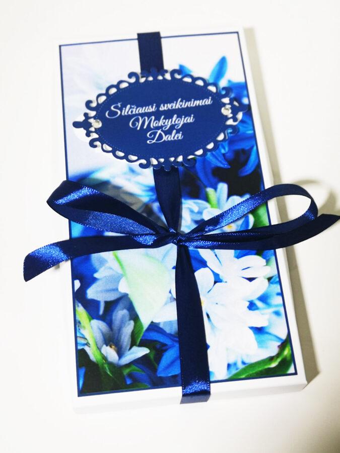 Saldus sveikinimas - padėka Mokytojai (mėlyna)